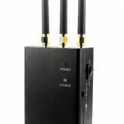 Black Portable Broad Range Cell Phone Jammer